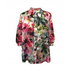 Mela Purdie Soft Verandah Blouse - Monet Floral Chiffon Satin - Sale