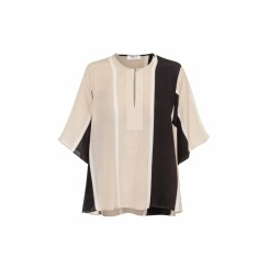 Mela Purdie Boheme T - Marquis Stripe Print Silk