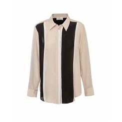 Mela Purdie Soft Shirt - Marquis Stripe Print Silk