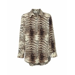 Mela Purdie Soft Shirt - Tiger Print Silk