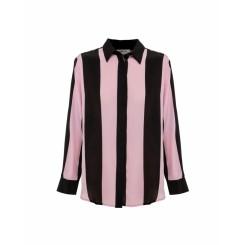 Mela Purdie Soft Shirt - Cabana Stripe Silk - Sale