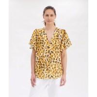Mela Purdie Flutter T - Liquorice Leopard - Sale