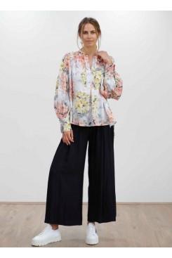 Mela Purdie Saddle Blouse - Shadow Lilly Print - Sale
