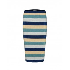 Mela Purdie Pencil Skirt - Rainbow Stripe - Sale