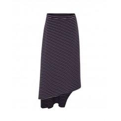 Mela Purdie Oblique Skirt - St Barts Stripe Compact Knit