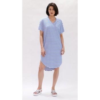 Mela Purdie Shell Dress - Pacific Stripe