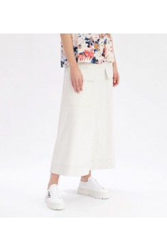 Mela Purdie Duo Pocket Skirt - Polished Canvas