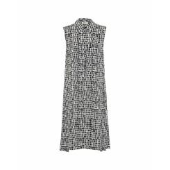 Mela Purdie Sleeveless Shirt Dress - Mosaic Print Mousseline