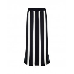 Mela Purdie Cabana Skirt - Domino Stripe Satin Print - Sale