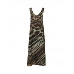 Mela Purdie Bardot Maxi Dress - Amazonia Chiffon Satin Print - Sale