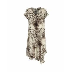 Mela Purdie Sphere Dress - Tiger Print Silk