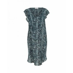 Mela Purdie Petal Dress - Topaz Animal Print Silk