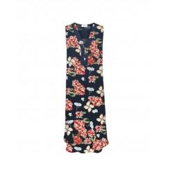 Mela Purdie Tab Dress - Punta Mita Floral Silk Print