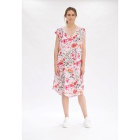 Mela Purdie Sway Dress - Poppy Pink Floral Print