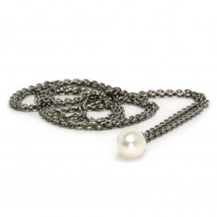 Fantasy Pearl Necklace, Silver 100cm
