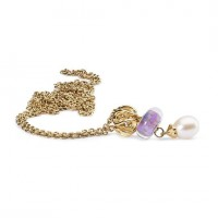 Fantasy Pearl Necklace, 14ct Gold 90cm