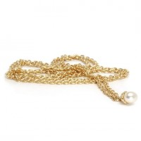 Fantasy Pearl Necklace, 14ct Gold 70cm