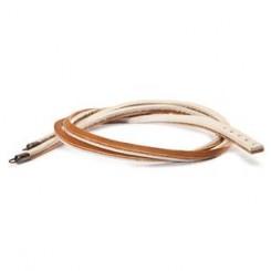 Leather Bracelet, Brown/ Beige