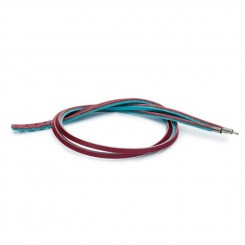 Leather Bracelet Turquoise/ Plum