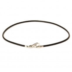 Necklace, Black leather