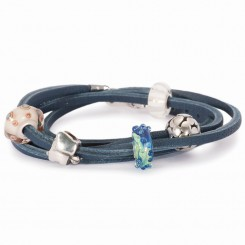 Bracelet, Blue leather