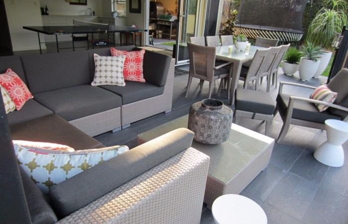 Outdoor Sofas, Armchair, Dining Table & Chairs and Scatter Cushions
